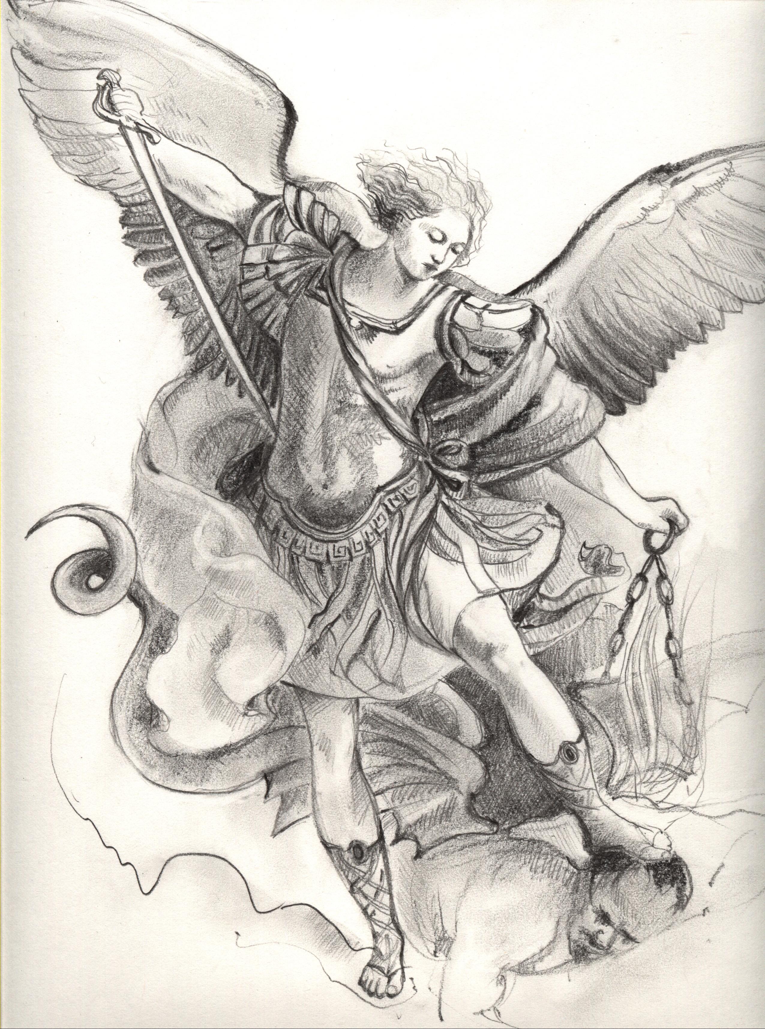 archangel michael tattoo - 736×990