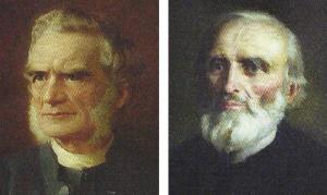 de la stânga la dreapta, Westcott și Hort